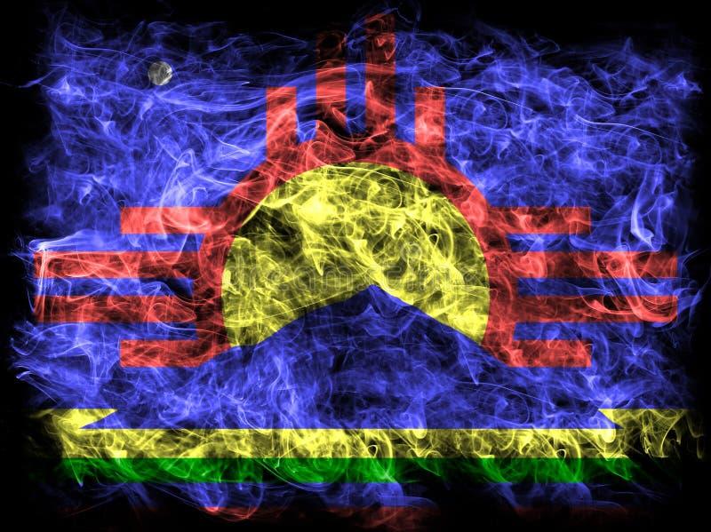 De rookvlag van de Roswellstad, de Staat van New Mexico, Verenigde Staten van Amer stock foto