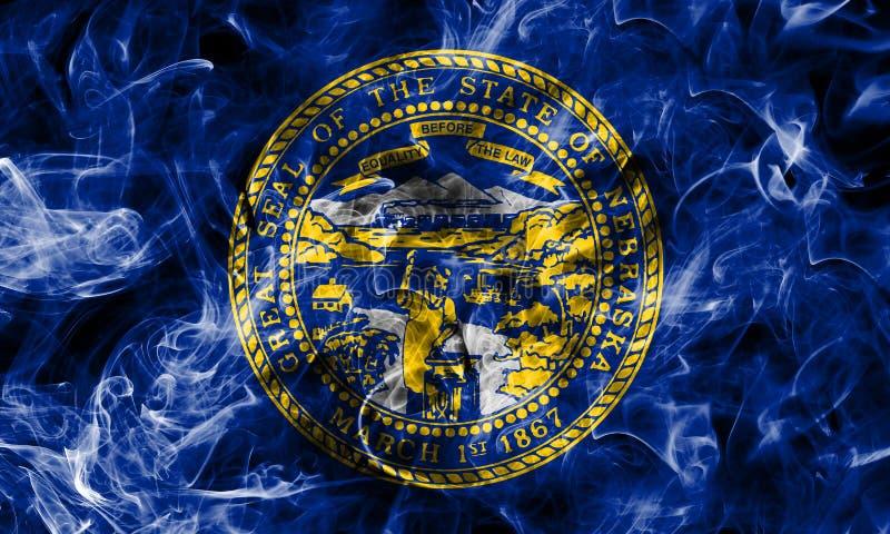 De rookvlag van de staat van Nebraska, de Verenigde Staten van Amerika royalty-vrije stock afbeelding