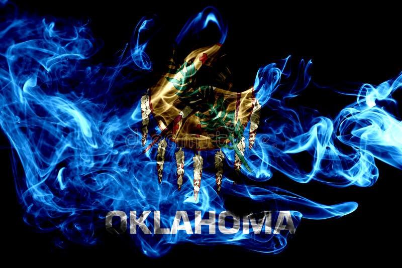 De rookvlag van de staat van Oklahoma, de Verenigde Staten van Amerika royalty-vrije stock fotografie