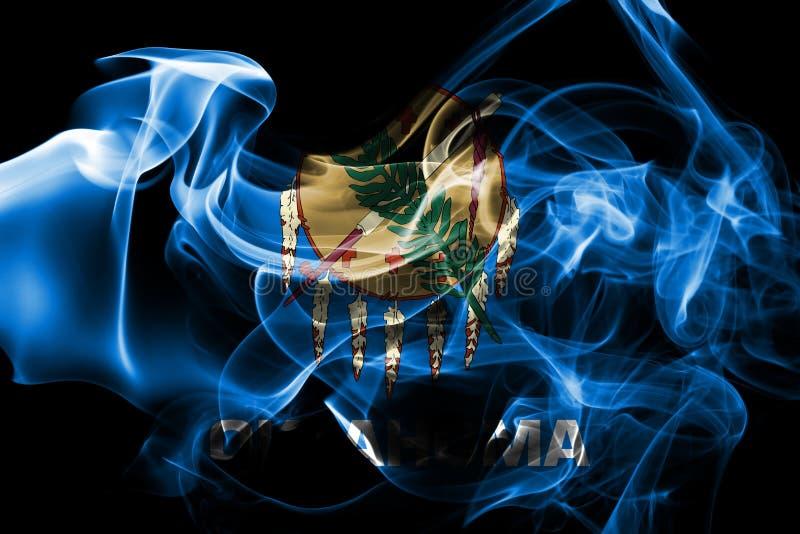 De rookvlag van de staat van Oklahoma, de Verenigde Staten van Amerika royalty-vrije stock afbeeldingen