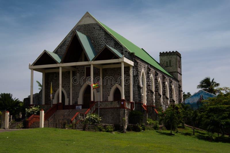 De Rooms-katholieke kerk van Tivoli, Grenada royalty-vrije stock fotografie