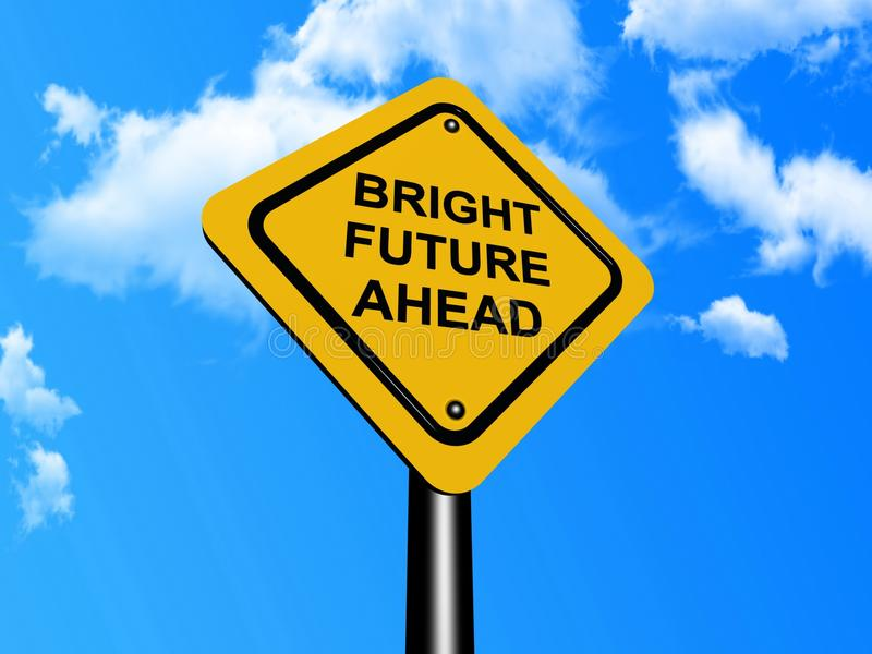 De rooskleurige toekomst ondertekent vooruit
