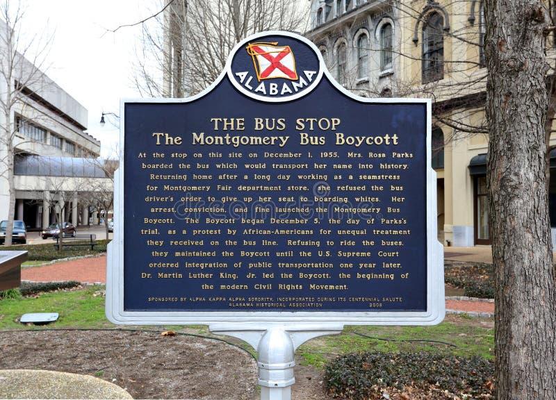 De Rosa Parks Bus Stop stock afbeeldingen