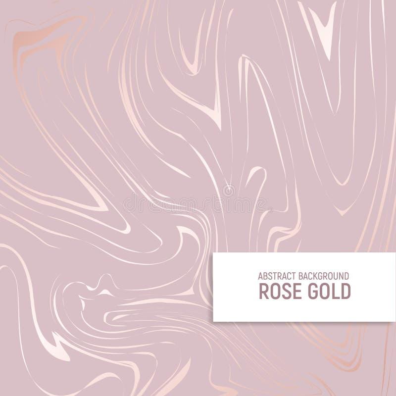 Or de Rose Texture de marbre avec l'imitation de l'or rose Fond élégant pour pour la conception des invitations, couvertures illustration libre de droits