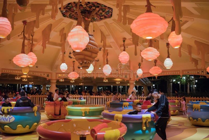 De Rotatierit van de Hunnypot in Shanghai Disneyland, China royalty-vrije stock fotografie