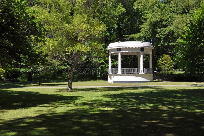 De Rotonde van de Band van het Park van Hagley, Christchurch Nieuw Zeeland royalty-vrije stock foto