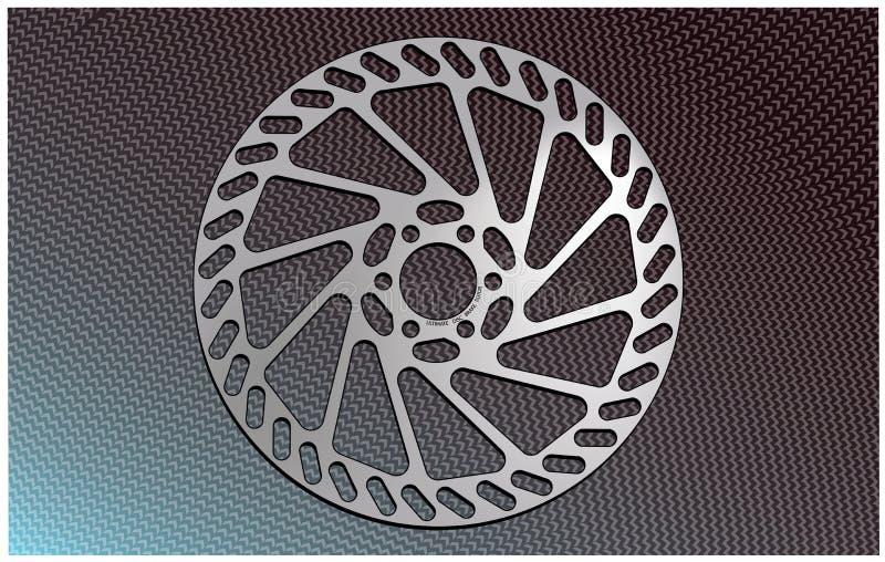 De rotor van de de schijfrem van de fiets royalty-vrije illustratie