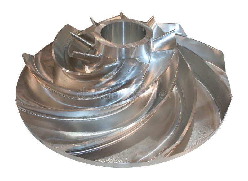 De rotor van de turbine stock afbeelding