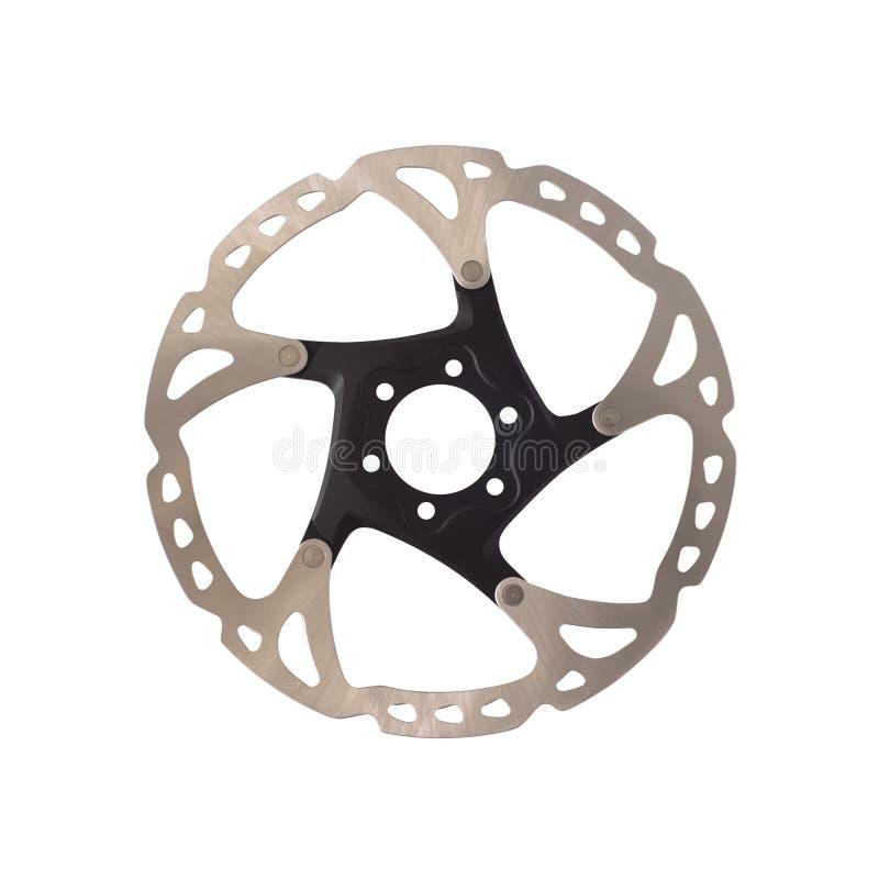 De rotor van de schijfrem voor geïsoleerde bergfietsen stock afbeeldingen