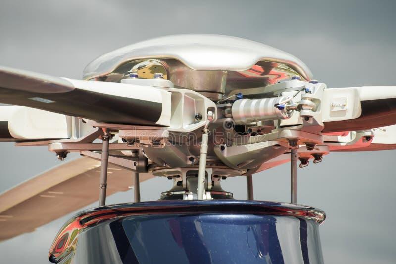 De rotoren van de helikopter royalty-vrije stock afbeeldingen