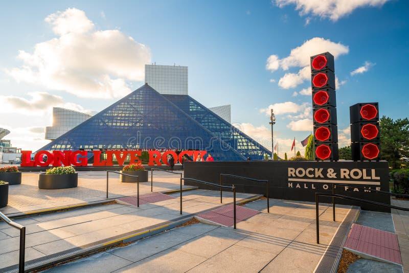 De rots - en - rolt Hall of Fame en Museum royalty-vrije stock afbeelding