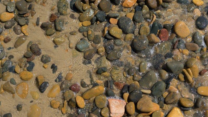 De rots op kust royalty-vrije stock foto