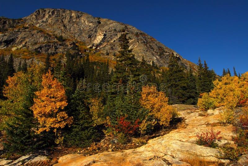 De rots van de berg stock foto's