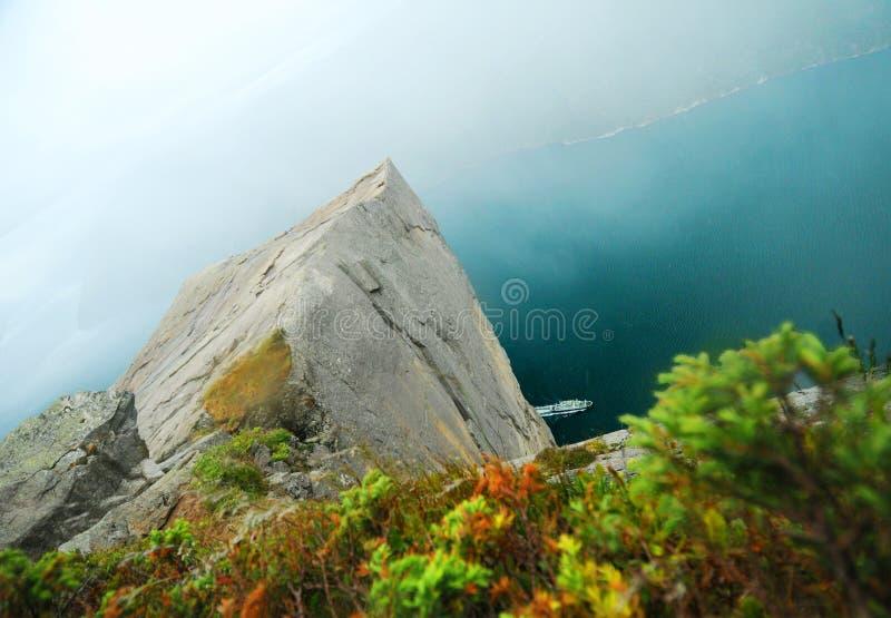 De Rots van de preekstoel, Noorwegen stock fotografie