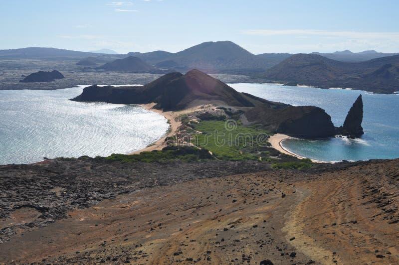 De Rots van Isla Bartolome en van de Top royalty-vrije stock foto