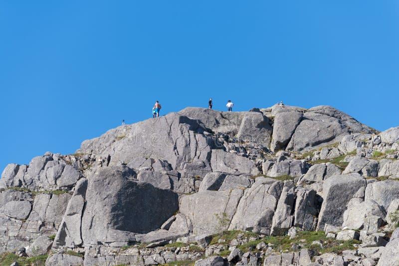 De rots van de preekstoel in Noorwegen royalty-vrije stock afbeelding