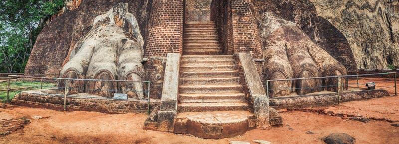 De rots van Sigiriya Panorama stock foto's
