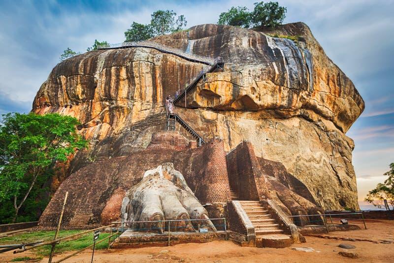 De rots van Sigiriya Panorama royalty-vrije stock foto's