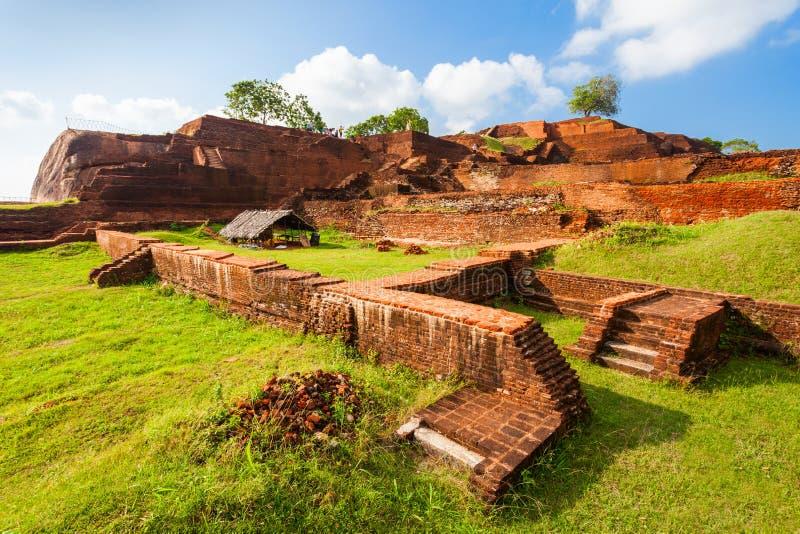 De Rots van Sigiriya, Sri Lanka stock foto's