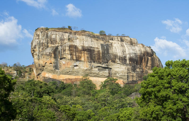 De Rots van Sigiriya, Sri Lanka royalty-vrije stock fotografie