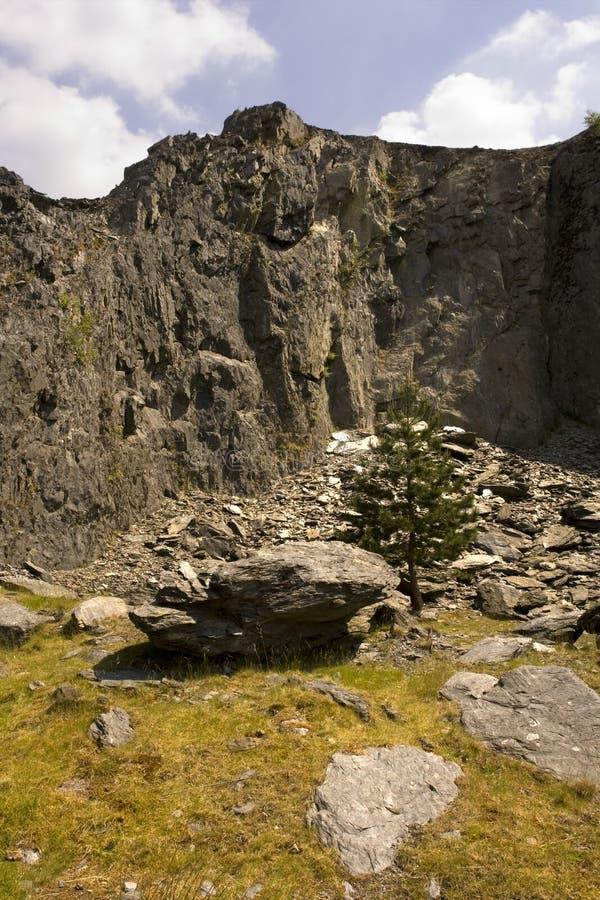 De rots Wales van de steengroeve stock foto
