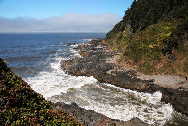 De rotsachtige Kustlijn van Oregon stock foto's