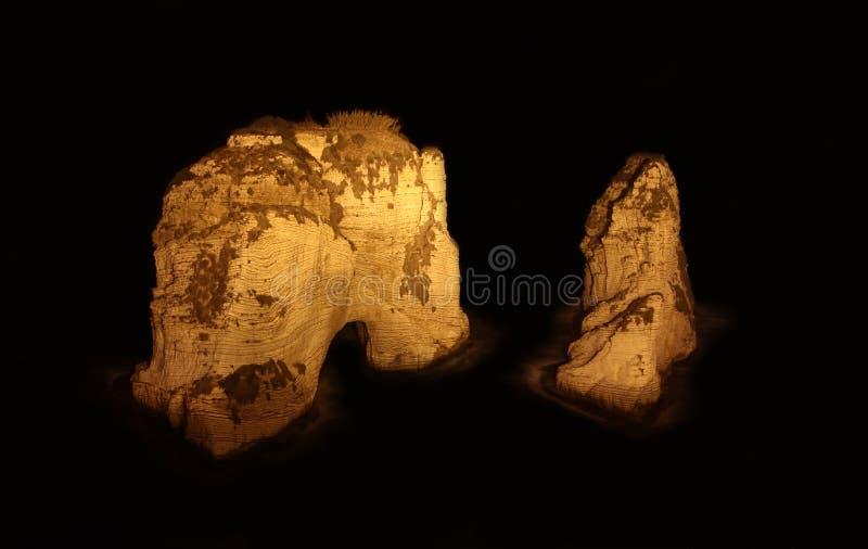 De Rotsen van de duif, Beiroet, Libanon royalty-vrije stock afbeeldingen