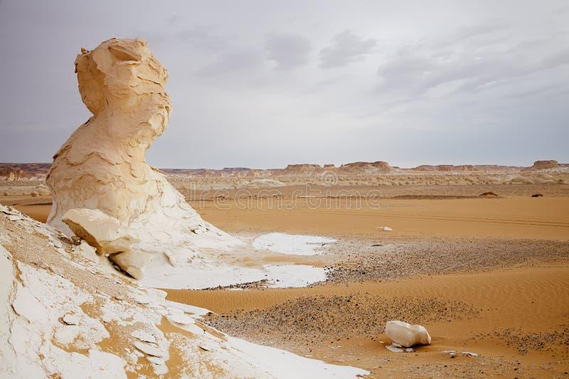 De rotsen van de kalksteenvorming in de Sahara, Egypte royalty-vrije stock foto