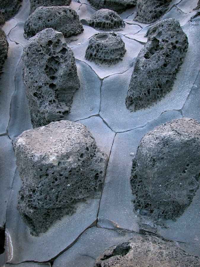 De rotsen van de lava op Jeju Eiland, Korea royalty-vrije stock afbeelding