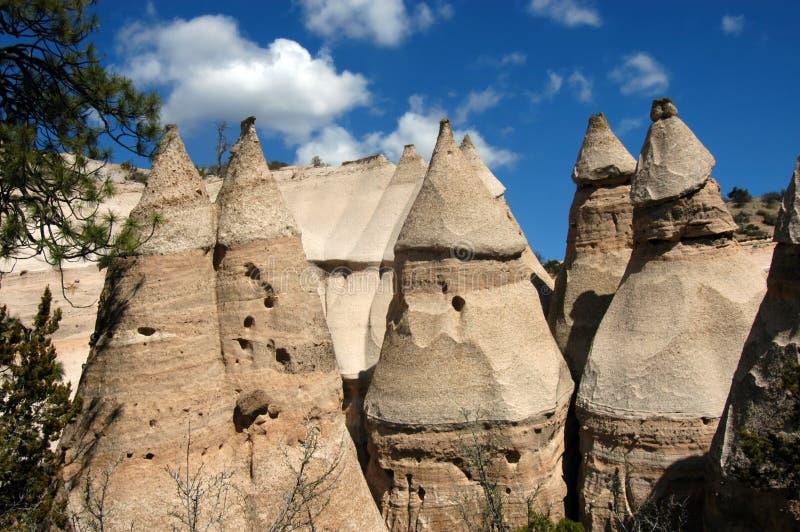 De Rotsen van de tent in New Mexico stock afbeelding