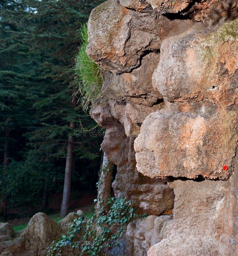 De rotsen van de waterval stock fotografie