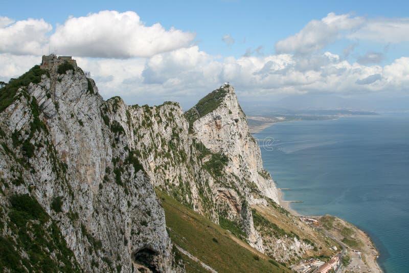 De rotsen van Gibraltar royalty-vrije stock fotografie