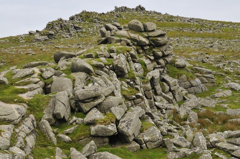 De rotsen van het graniet van Piek Belstone royalty-vrije stock fotografie