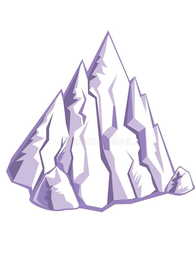 De rotsen van het ijs vector illustratie