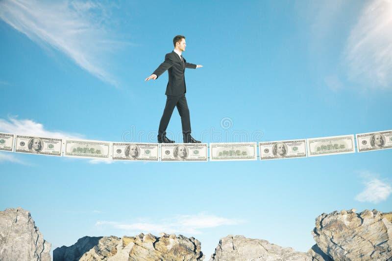 De rotsen van het risicoconcept stock foto