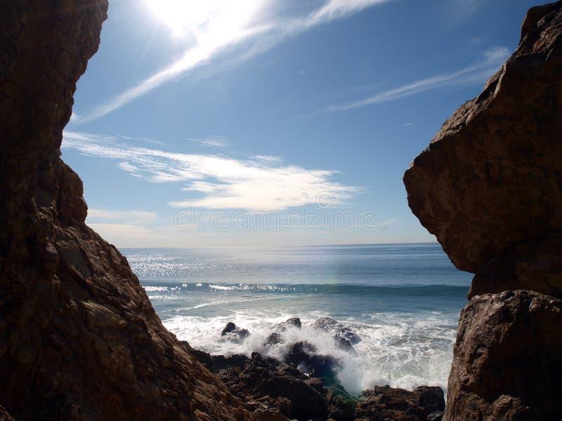 De Rotsen van Malibu stock afbeeldingen