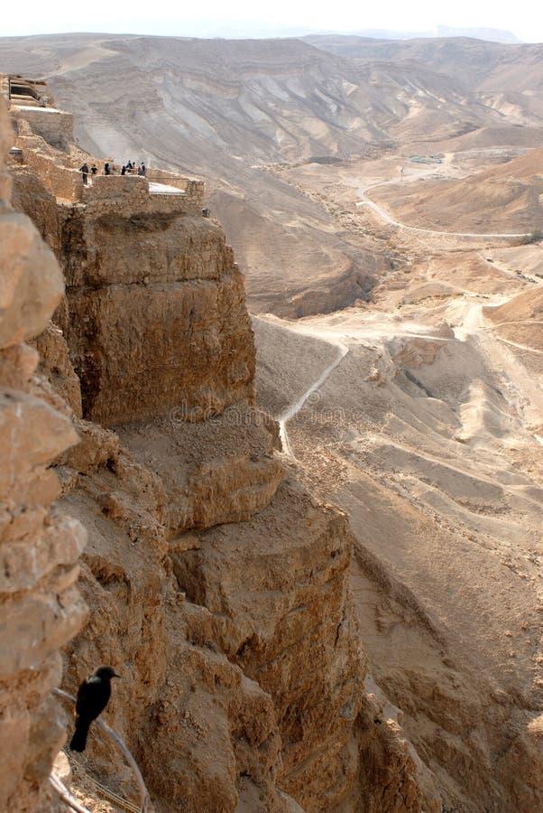 De rotsen van Masada royalty-vrije stock foto