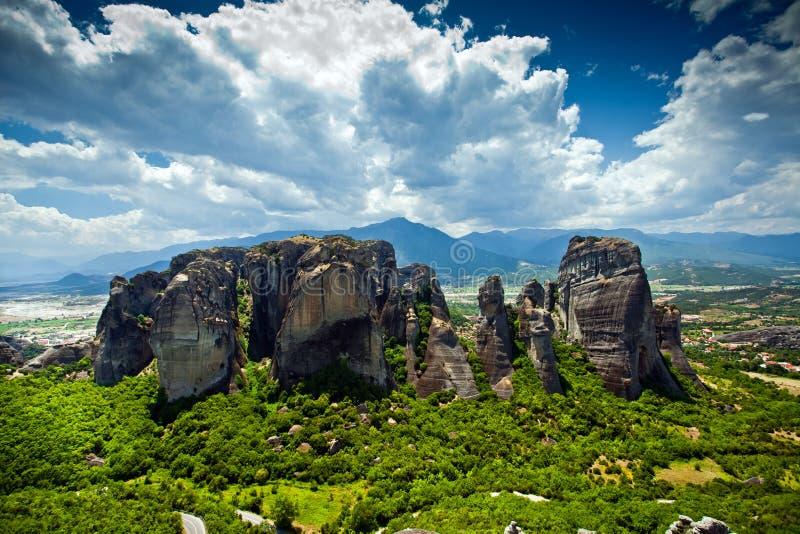 De rotsen van Meteora, Griekenland royalty-vrije stock foto