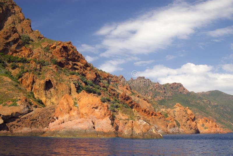De rotsen van Scandola stock foto's
