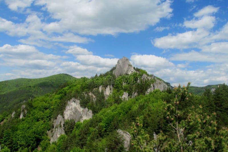 De rotsen van Sulov stock fotografie