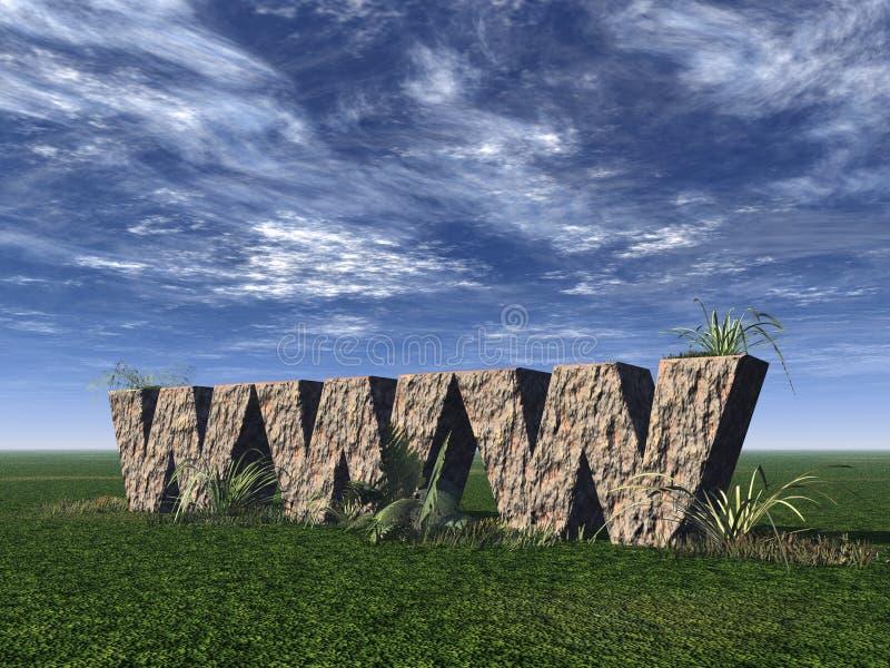 De rotsen van Www stock illustratie