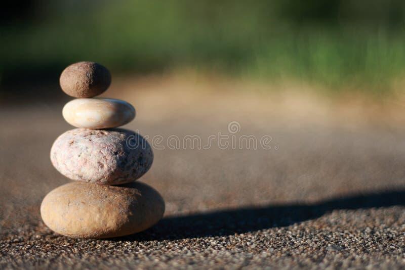 De rotsen van Zen stock afbeeldingen