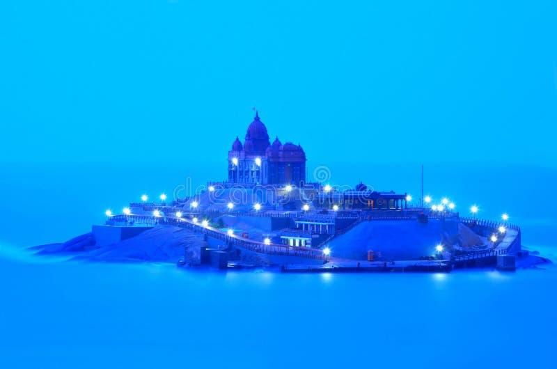 De rotsgedenkteken van Vivekananda stock afbeelding