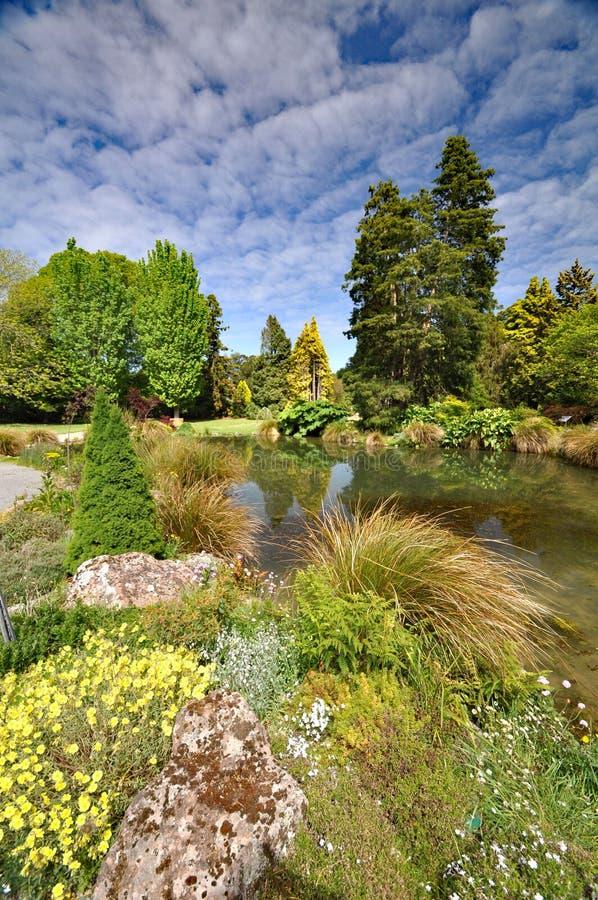 De Rotstuin bij de Botanische Tuin van Christchurch stock fotografie