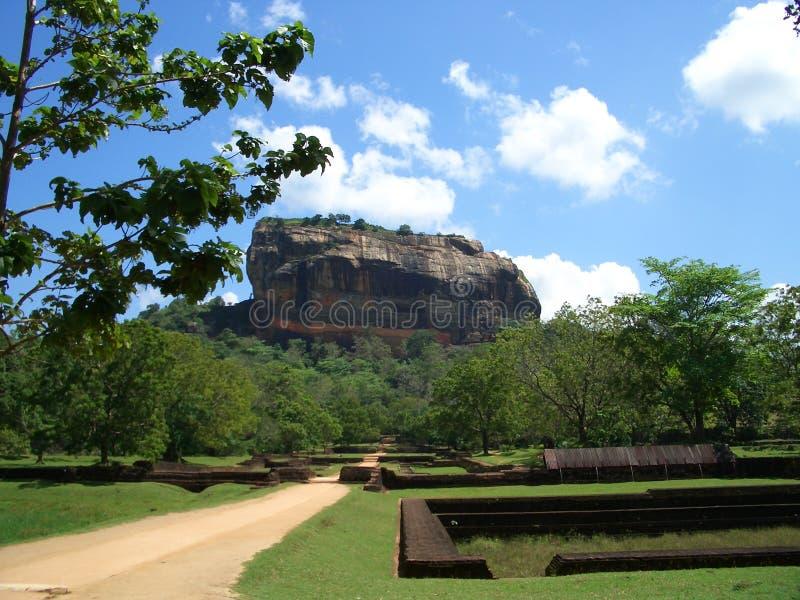 De rotsvesting van Sigiriya royalty-vrije stock afbeelding