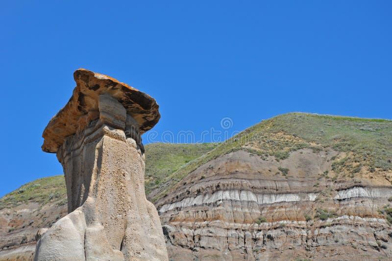 De rotsvorming van Hoodoos stock afbeeldingen