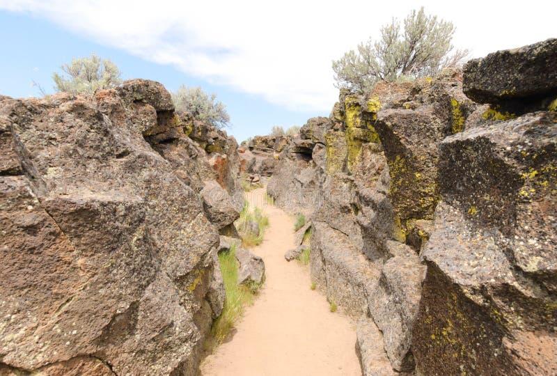 De rotsvormingen van de lava royalty-vrije stock afbeelding