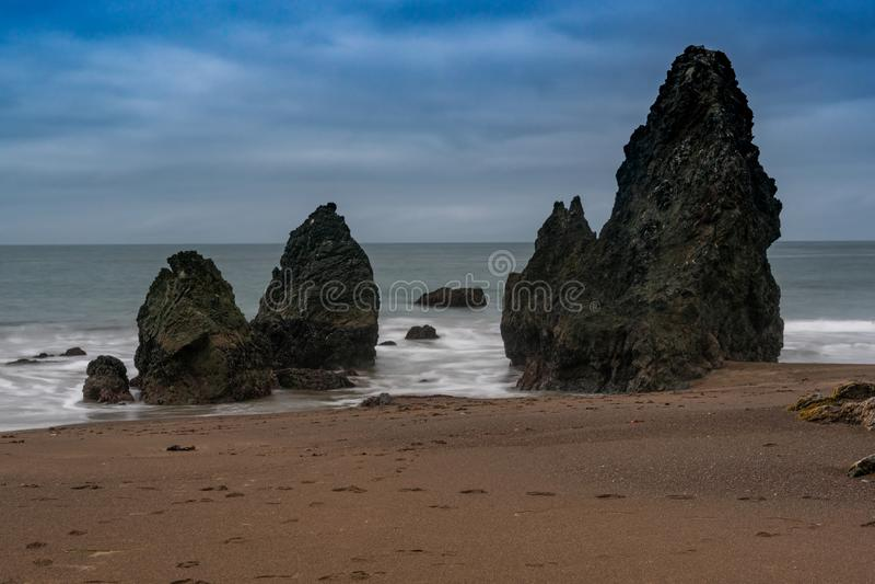 De rotsvormingen van het rodeostrand stock foto