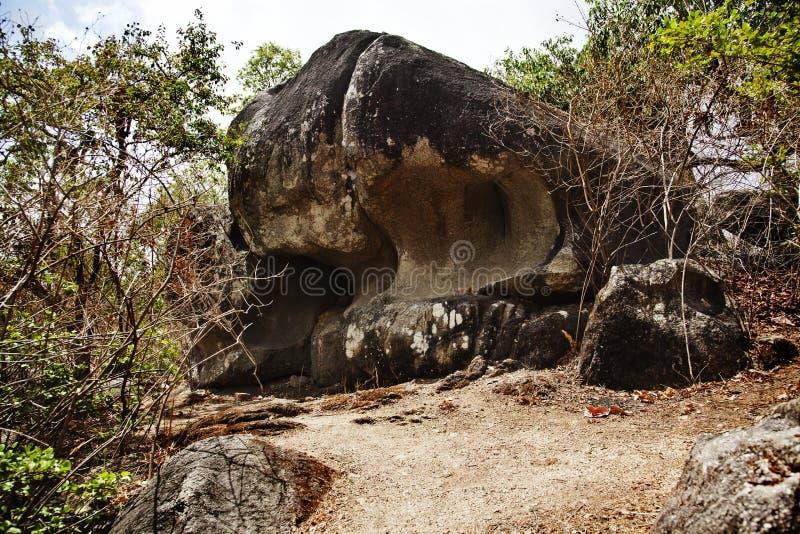 De rotsvormingen, zetten Abu, Sirohi-District op, royalty-vrije stock foto's