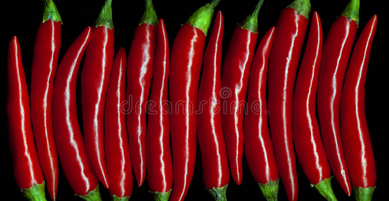 De rouge poivrons chily images stock